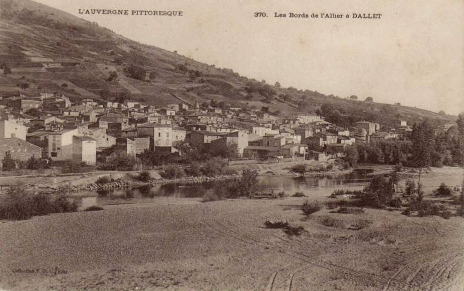 les bords de l'allier à Dallet